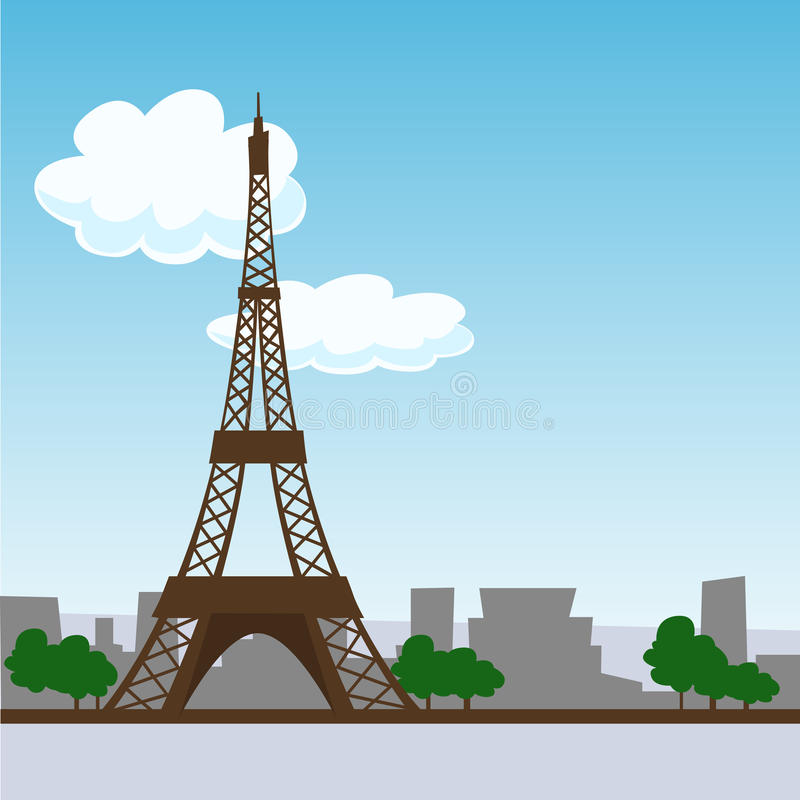 πύργος του Άιφελ Παρίσι διανυσματική απεικόνιση