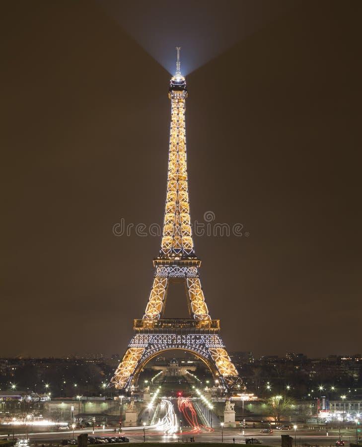 Πύργος του Άιφελ τή νύχτα, Παρίσι, Γαλλία στοκ φωτογραφία με δικαίωμα ελεύθερης χρήσης