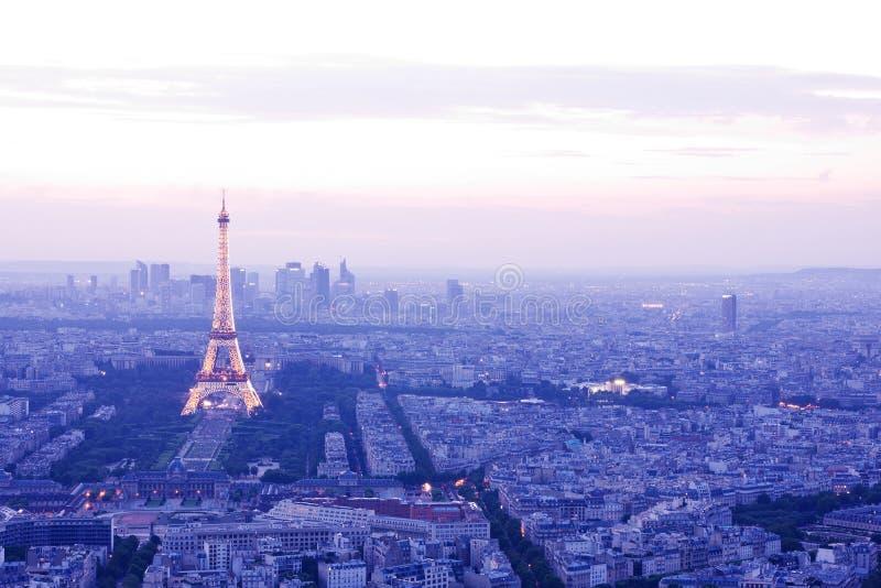 Πύργος του Άιφελ τή νύχτα, Παρίσι στοκ φωτογραφία