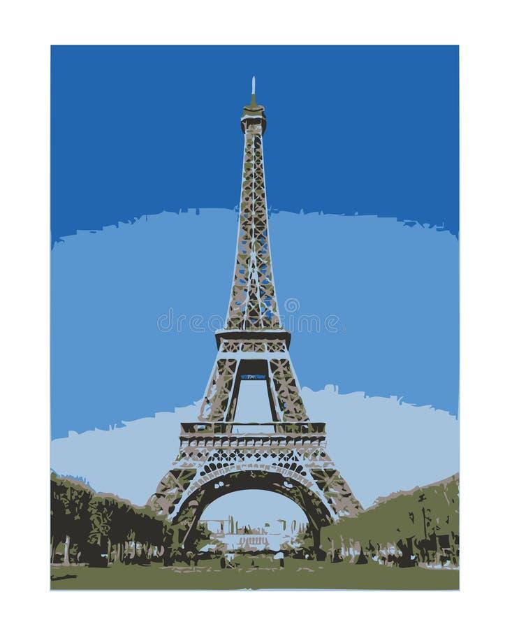 πύργος του Άιφελ eps Παρίσι στοκ εικόνα με δικαίωμα ελεύθερης χρήσης