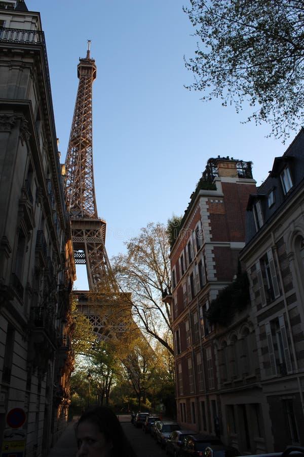 Πύργος του Άιφελ μεταξύ στοκ εικόνες