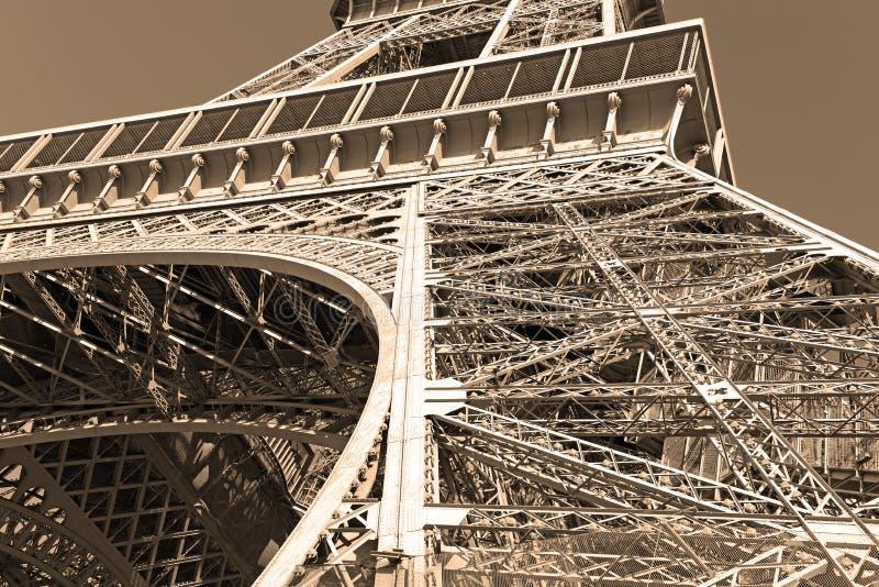 Πύργος του Άιφελ με το φίλτρο σεπιών, Παρίσι Γαλλία στοκ φωτογραφία με δικαίωμα ελεύθερης χρήσης