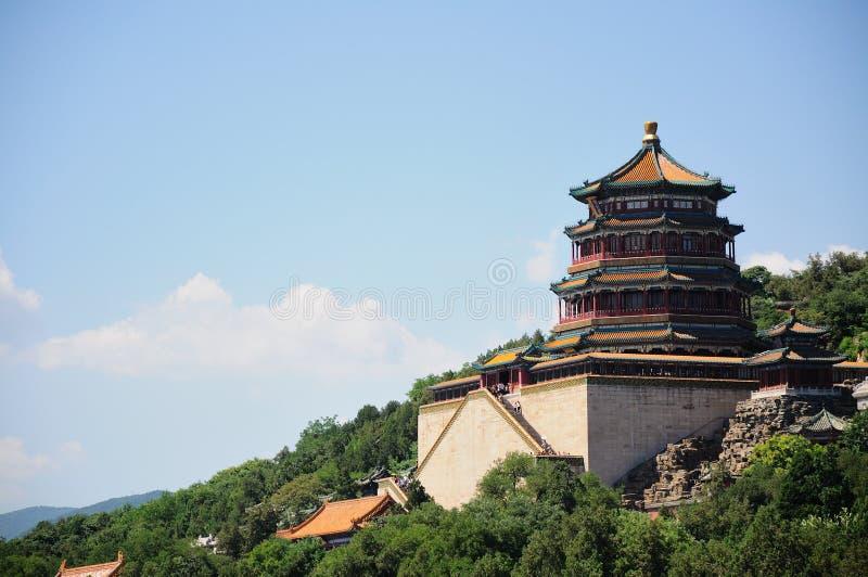Πύργος του βουδιστικού θυμιάματος Foxiangge Hill μακροζωίας Wanshoushan kunming λίμνη Kunminghu καλοκαίρι παλατιών του Π& Yiheyua στοκ φωτογραφία με δικαίωμα ελεύθερης χρήσης