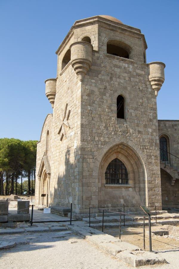 Πύργος του κάστρου της Ρόδου στοκ εικόνα