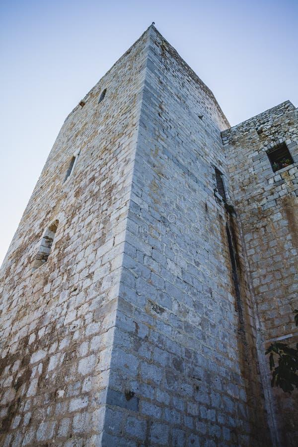 Πύργος του Castle, απόψεις penyscola, όμορφη πόλη της Βαλένθια στη SPA στοκ φωτογραφία με δικαίωμα ελεύθερης χρήσης