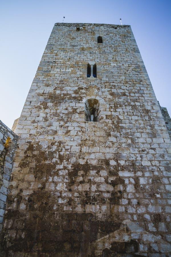Πύργος του Castle, απόψεις penyscola, όμορφη πόλη της Βαλένθια στη SPA στοκ εικόνα