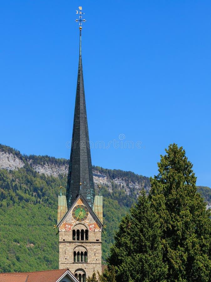Πύργος του ST Peter και της εκκλησίας του Paul σε Stans, Ελβετία στοκ φωτογραφίες με δικαίωμα ελεύθερης χρήσης