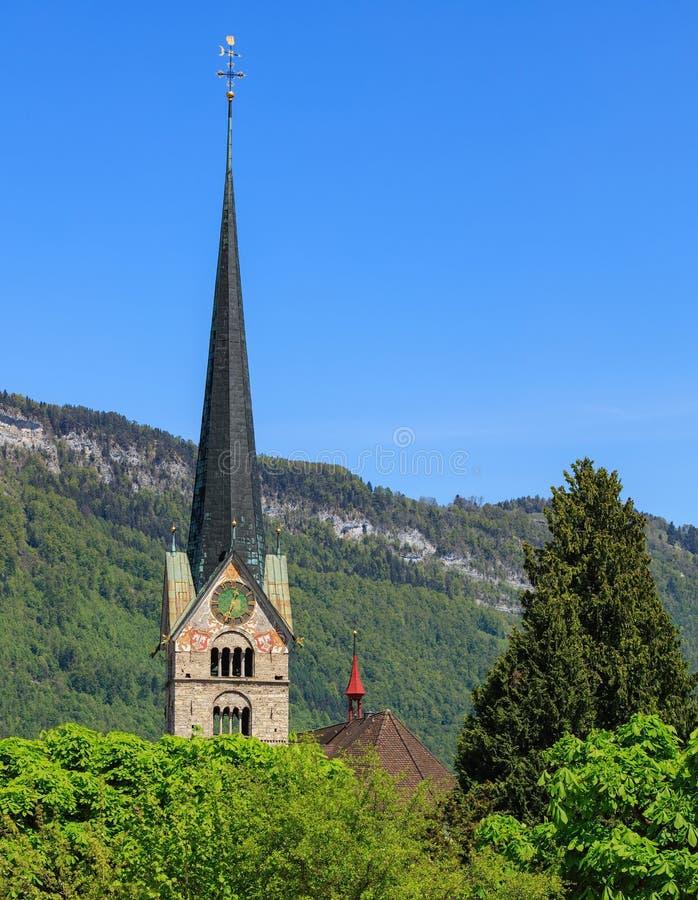 Πύργος του ST Peter και της εκκλησίας του Paul σε Stans, Ελβετία στοκ φωτογραφία με δικαίωμα ελεύθερης χρήσης