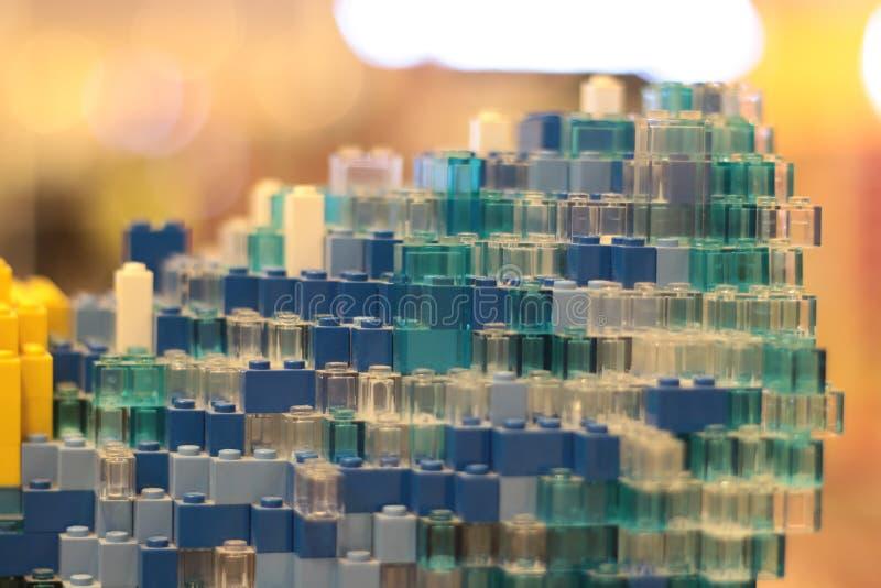 Πύργος τούβλου φραγμών παιχνιδιών στοκ φωτογραφίες