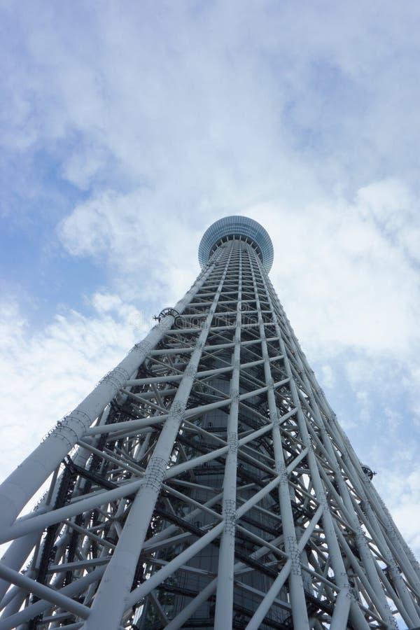Πύργος Τόκιο Skytree TV και μπλε ουρανός στοκ φωτογραφία με δικαίωμα ελεύθερης χρήσης