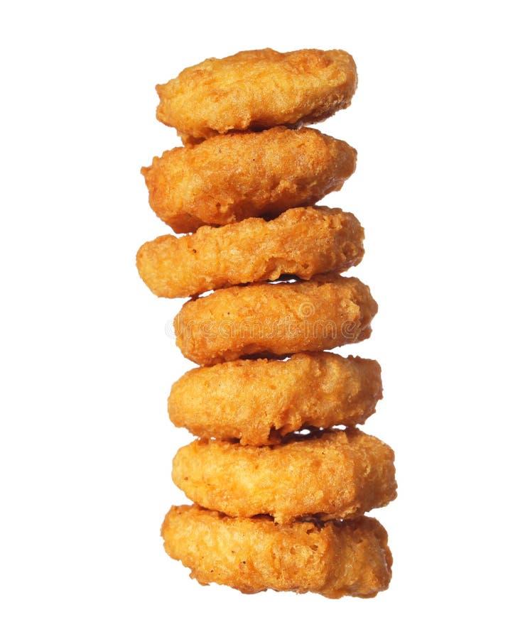Πύργος ψηγμάτων κοτόπουλου που απομονώνεται στοκ φωτογραφία με δικαίωμα ελεύθερης χρήσης