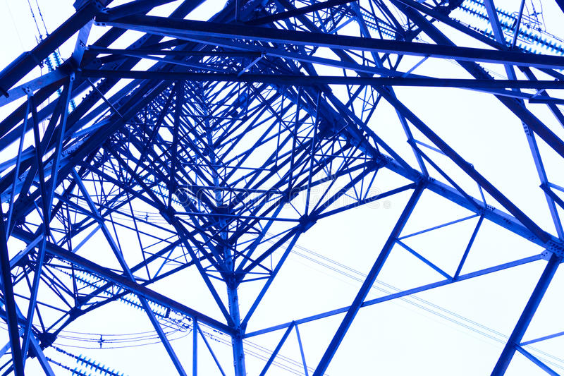 Πύργος δύναμης χάλυβα στοκ εικόνα με δικαίωμα ελεύθερης χρήσης