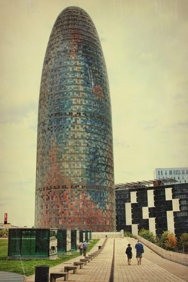 Πύργος Agbar στη Βαρκελώνη στην Ισπανία στοκ φωτογραφίες