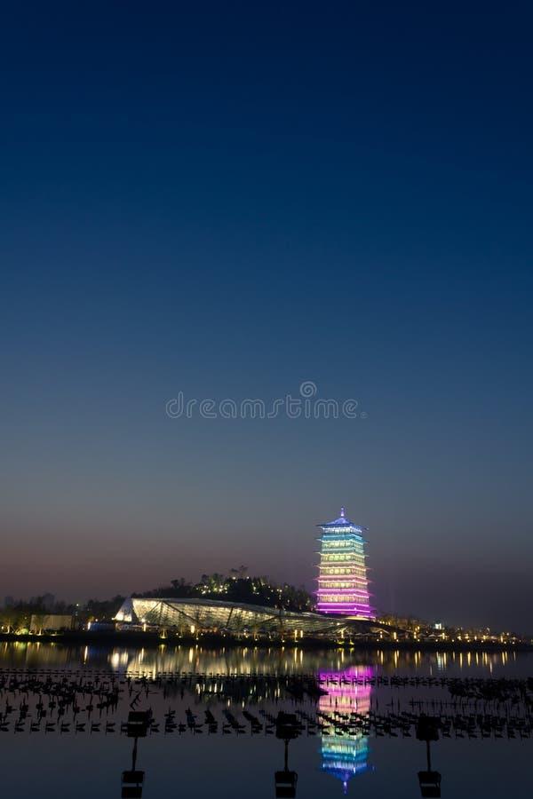 """Πύργος Changan τη νύχτα, νέο ορόσημο ΧΙ """", Shaanx στοκ φωτογραφία με δικαίωμα ελεύθερης χρήσης"""