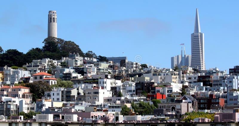 Πύργος του Σαν Φρανσίσκο Coit στοκ φωτογραφία με δικαίωμα ελεύθερης χρήσης
