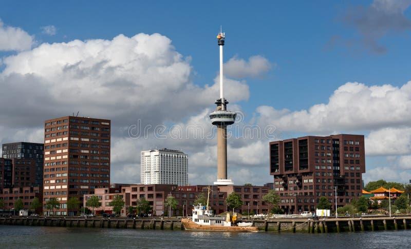 Πύργος Euromast παρατήρησης στο Ρότερνταμ στοκ φωτογραφία με δικαίωμα ελεύθερης χρήσης