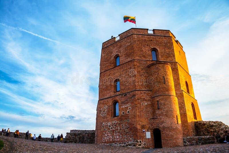 Πύργος Gediminas σε Vilnius, Λιθουανία στοκ φωτογραφία με δικαίωμα ελεύθερης χρήσης