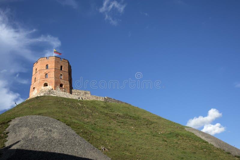 Πύργος Gediminas Gedimino σε Vilnius, Λιθουανία Ιστορικό σύμβολο της πόλης Vilnius και της Λιθουανίας η ίδια Ανώτερο Vilnius στοκ εικόνες