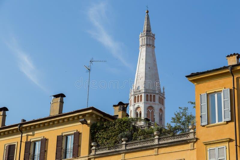 Πύργος Ghirlandina, Μοντένα στοκ εικόνες με δικαίωμα ελεύθερης χρήσης