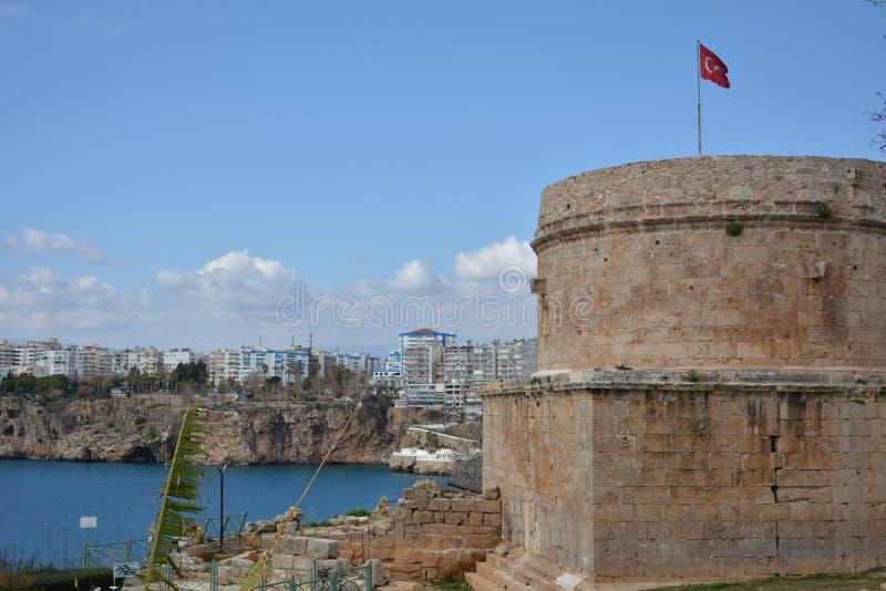 Πύργος Hidirlik του antalya στοκ φωτογραφία