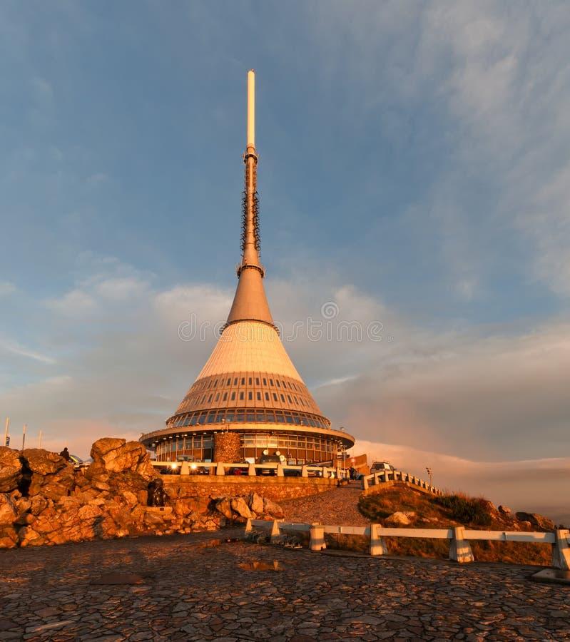 Πύργος Jested στη Δημοκρατία της Τσεχίας στοκ εικόνες