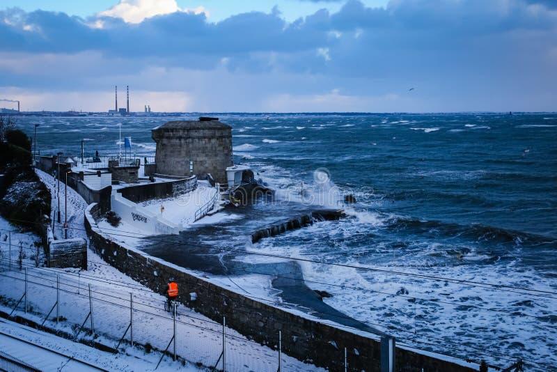 Πύργος Martello Seapoint dun laoghaire Νομός Δουβλίνο Ιρλανδία στοκ φωτογραφία με δικαίωμα ελεύθερης χρήσης