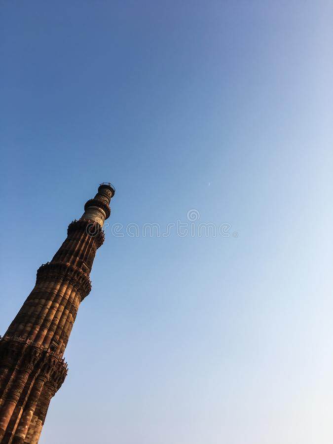 Πύργος Minar Qutub, Νέο Δελχί, Ινδία στοκ φωτογραφία με δικαίωμα ελεύθερης χρήσης