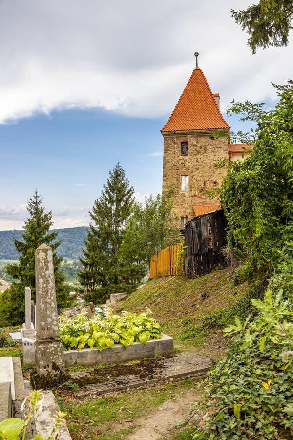 Πύργος Ropemakers Sighisoara στη Ρουμανία, Τρανσυλβανία στοκ φωτογραφία