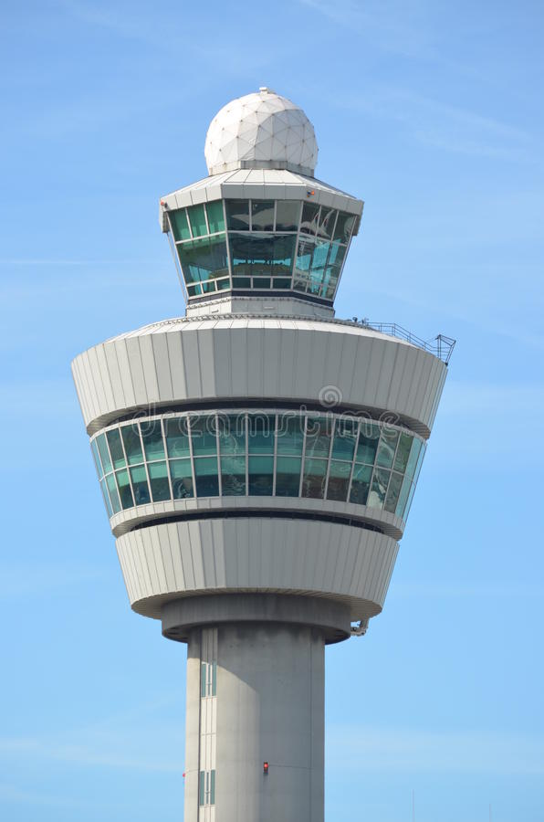 Πύργος Schiphol αερολιμένων του Άμστερνταμ στοκ εικόνα
