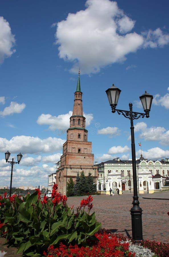 Πύργος Suyumbike Kazan Κρεμλίνο. Ρωσία στοκ εικόνες με δικαίωμα ελεύθερης χρήσης