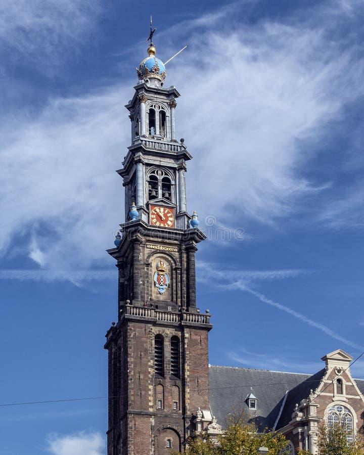 Πύργος Westerkerk, Άμστερνταμ, οι Κάτω Χώρες στοκ εικόνες