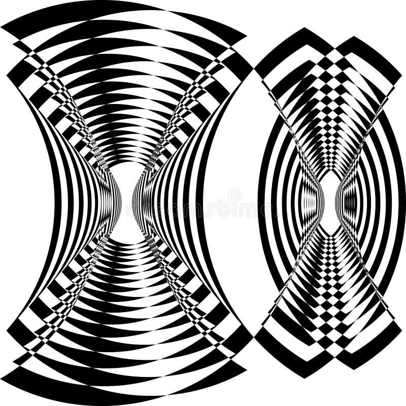 Πύργων ανεμόμυλων σπασμένη η ανεμιστήρας ελατηρίων αραχνών καθαρή περίληψη δομών παραίσθησης arabesque δορυφορική εμπνευσμένη έκο ελεύθερη απεικόνιση δικαιώματος
