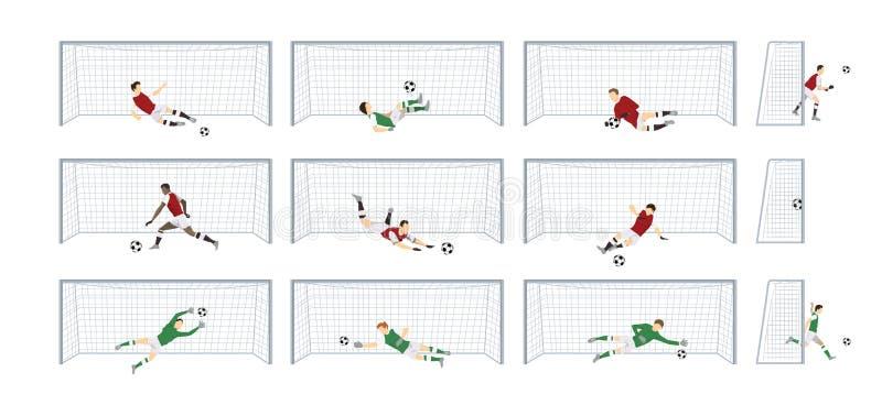 Πύλες ποδοσφαίρου καθορισμένες ελεύθερη απεικόνιση δικαιώματος