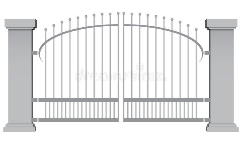 Πύλες χάλυβα απεικόνιση αποθεμάτων