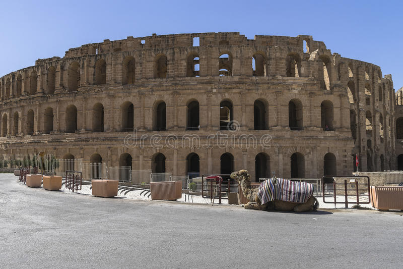 Πύλη αμφιθεάτρων EL Djem στοκ φωτογραφία