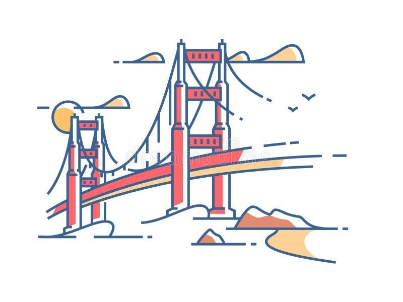 πύλη γεφυρών χρυσή απεικόνιση αποθεμάτων