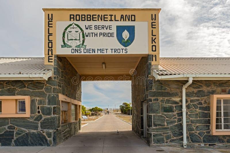 Πύλη εισόδων στο νησί Robben, Καίηπ Τάουν, Νότια Αφρική στοκ εικόνα με δικαίωμα ελεύθερης χρήσης