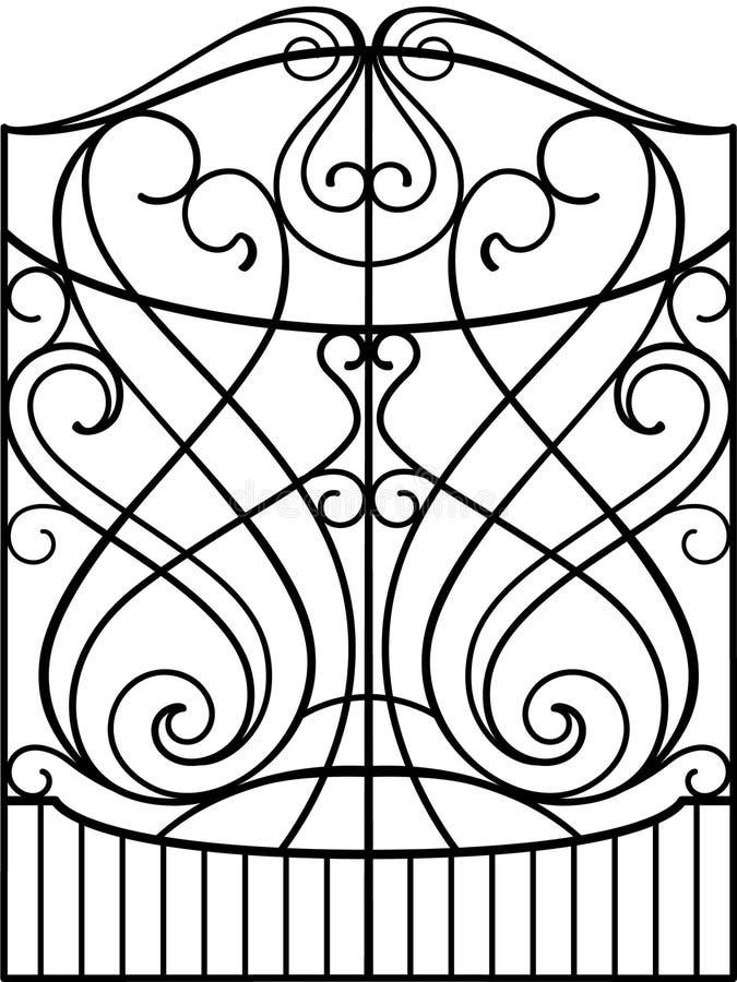 Πύλη επεξεργασμένου σιδήρου, ελεύθερη απεικόνιση δικαιώματος