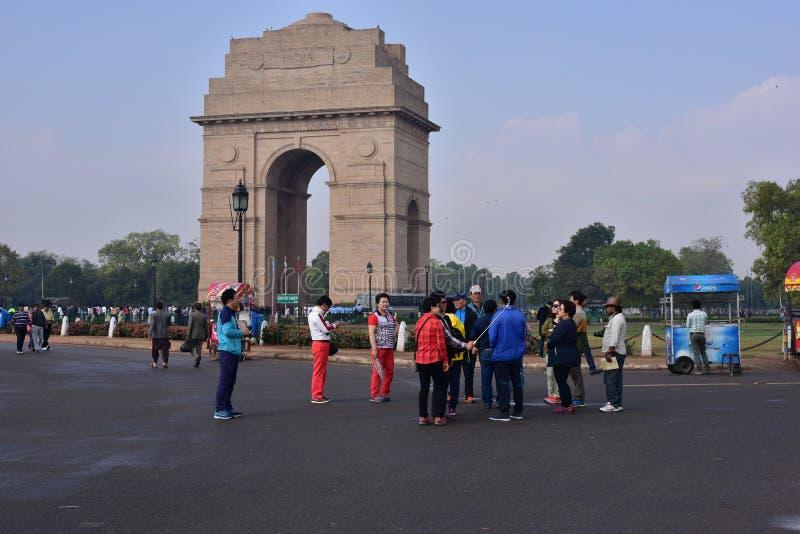 πύλη Ινδία του Δελχί νέα Είναι ένα μνημείο σε 82.000 στρατιώτες στοκ φωτογραφία με δικαίωμα ελεύθερης χρήσης