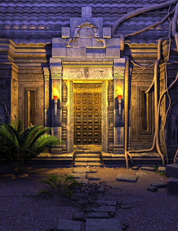 Πύλη ναών φαντασίας ελεύθερη απεικόνιση δικαιώματος