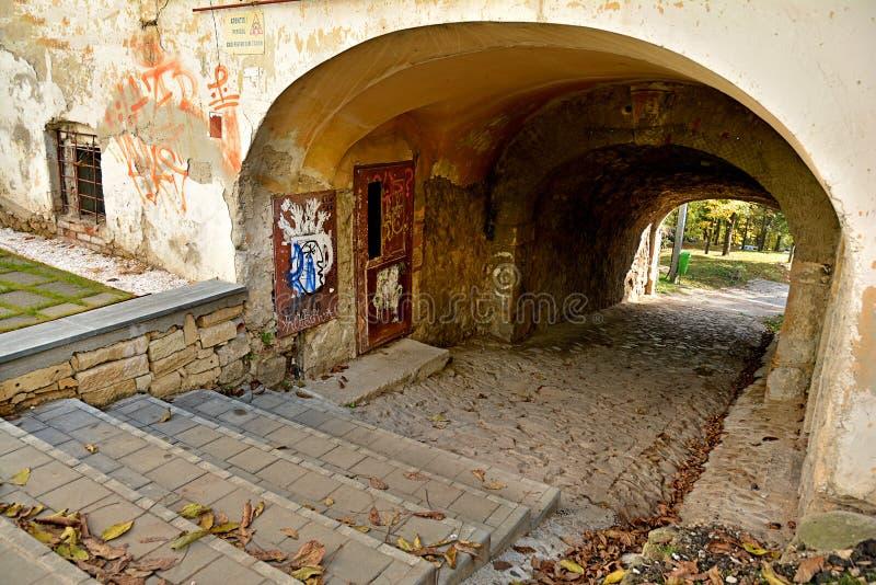 Πύλη νερού στο Hill Cetatuia φρουρίων στο Cluj Napoca στοκ εικόνες