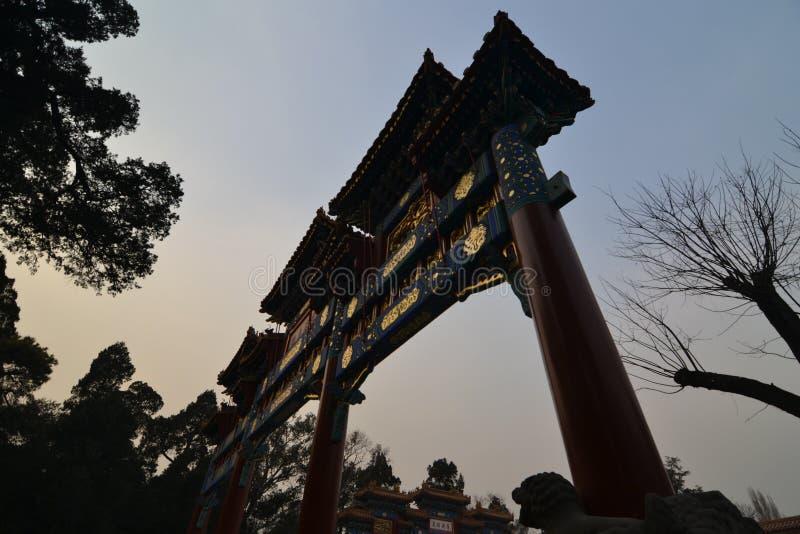 Πύλη πάρκων του Πεκίνου στοκ εικόνες