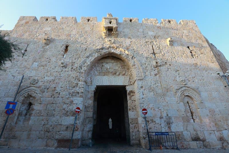 Πύλη πόλεων της Ιερουσαλήμ στοκ εικόνες