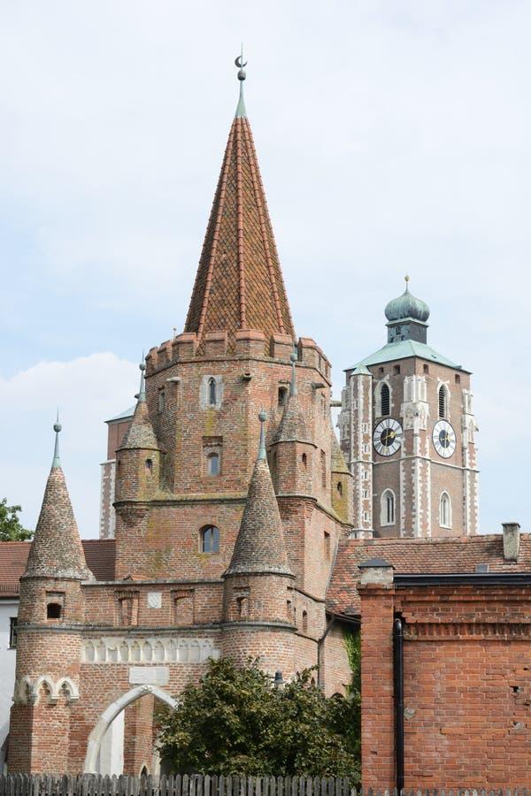 Πύλη πόλεων Ingolstadt στοκ εικόνα