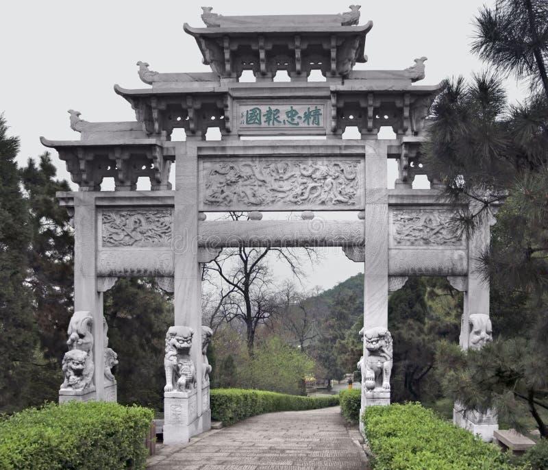 Πύλη σε Wuhan στοκ εικόνες με δικαίωμα ελεύθερης χρήσης
