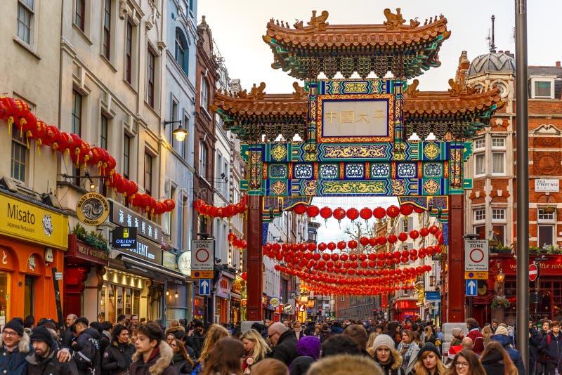 Πύλη στην πόλη της Κίνας στοκ εικόνες