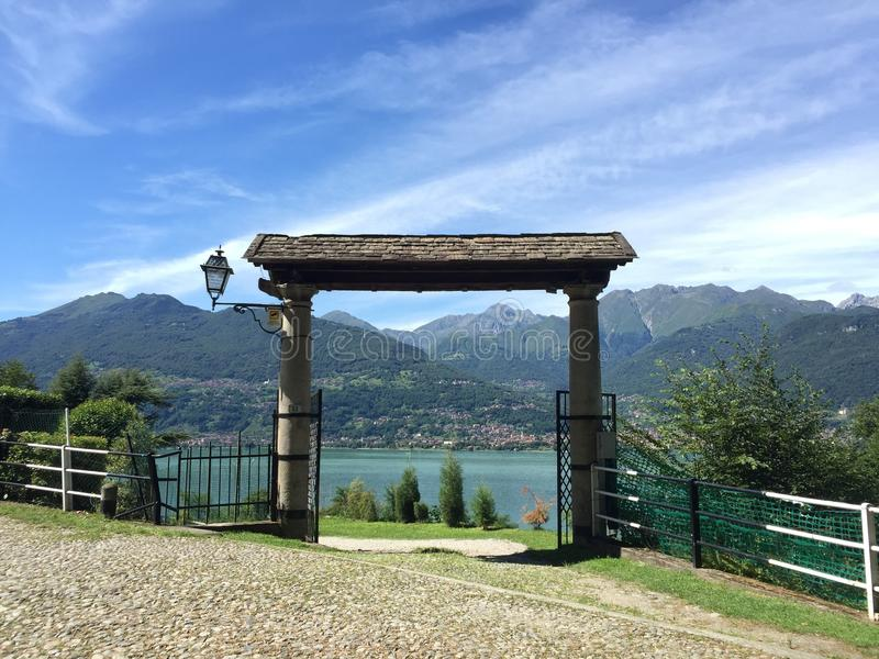 Πύλη στη λίμνη Garda στοκ φωτογραφίες