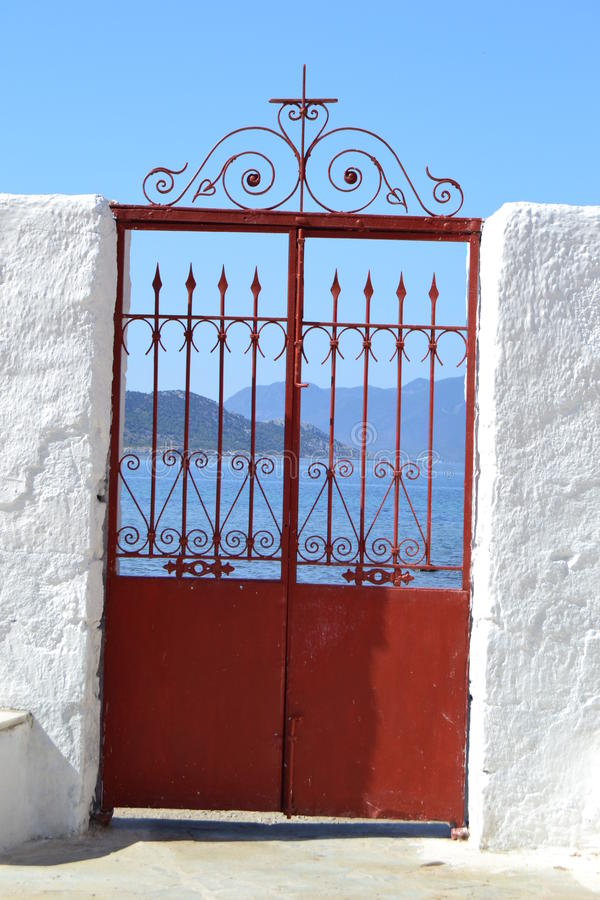 Πύλη στη θάλασσα στοκ φωτογραφία