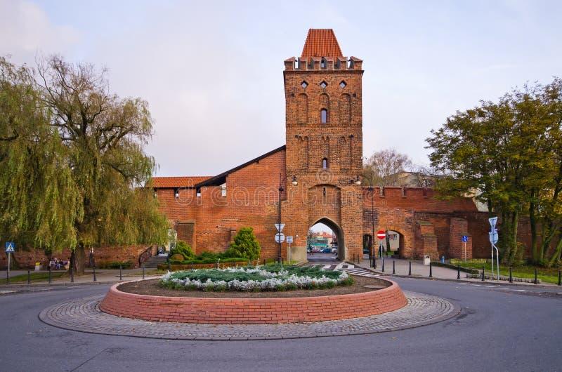 Πύλη στους αρχαίους πόλης τοίχους Olesnica, Πολωνία στοκ φωτογραφίες με δικαίωμα ελεύθερης χρήσης
