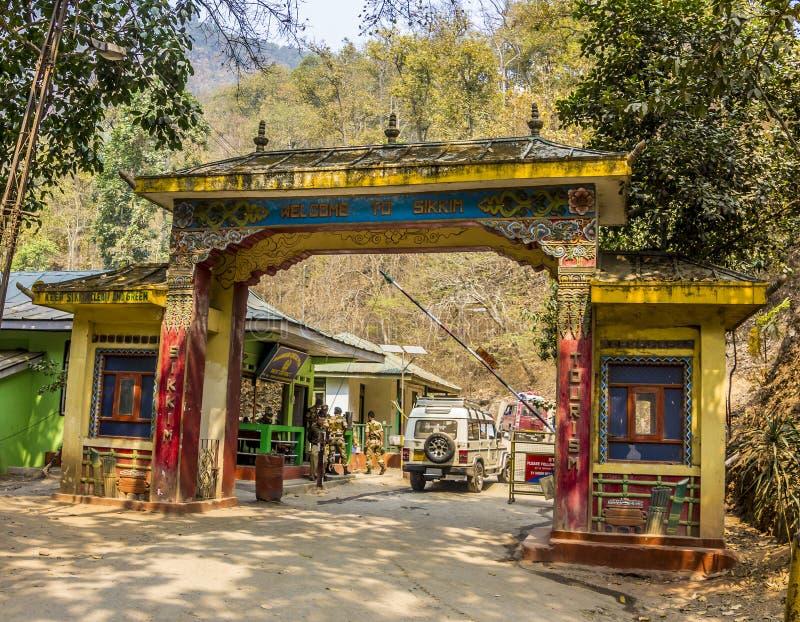 Πύλη στο Sikkim στοκ φωτογραφία με δικαίωμα ελεύθερης χρήσης